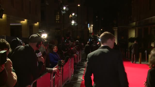 BAFTA Film Awards 2016 Arrivals at after party dinner More of Poulter / Will Poulter interview SOT on being in BAFTA nominated film / favourite...