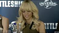 'Battleship' press conference Rihanna Taylor Kitsch Brooklyn Decker Peter Berg Kitsch Decker Rihanna and Berg press conference SOT