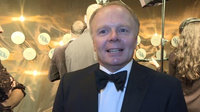 BFI Luminous Gala Dinner 2017 arrivals and interviews Jason Watkins interview SOT / Terry Gilliam arriving / Tilda Swinton / Stephen Fry / Sir...