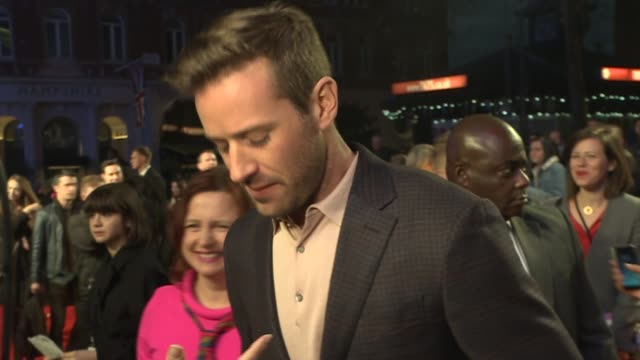 'Call Me By Your Name' premiere interviews ENGLAND London Leicester Square INT Sadiq Khan interview SOT Armie Hammer interview SOT Luca Guadagnino...
