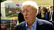 'Cars 2' premiere Michael Caine interview SOT On working with cars on The Italian Job Jason Isaacs interview SOT On how he used to drive very fast...