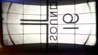 Film Countdown Leader Video Wall. HD