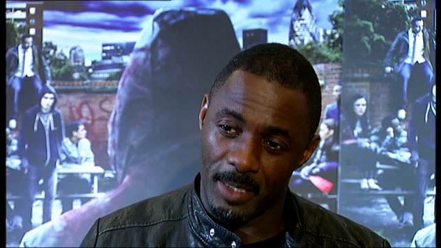 'Demons Never Die' premiere / interviews INT Idris Elba and Dionne Bromfield interview SOT Elba on what attracted him to the film Bromfield on how...