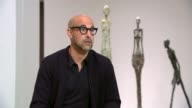 Director Stanley Tucci discusses his new film about artist Alberto Giacometti ENGLAND London Tate Modern INT Stanley Tucci interview SOT CUTAWAYs...