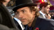 'Due date' London premiere arrivals and red carpet interviews Downey Jr and Levin interview SOT On filming Sherlock Holmes / enjoying their stay in...