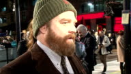 'Due date' London premiere arrivals and red carpet interviews Zach Galifianakis interview SOT On why he was drawn to the project / finds premieres...