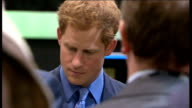 Duke and Duchess of Cambridge and Prince Harry visit Warner Brothers studios Prince William gets into Tumbler / Harry looking at Batman suit /...