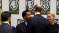 Duke and Duchess of Cambridge and Prince Harry visit Warner Brothers studios highlights INT More shots of William Kate and Harry chatting to staff /...
