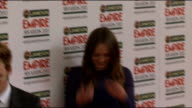 Empire Film Awards 2013 Celebrity red carpet arrivals and interior interviews Daniel Radcliffe gvs / Sam Claflin and Laura Haddock gvs / Rafe Spall...