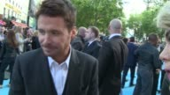 'Entourage' London premiere Kevin Connolly talking to press on red carpet/ Kevin Dillon on red carpet/ Kevin Connolly red carpet interview SOT/...
