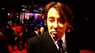 'Fantastic Mr Fox' premiere Jonathan Ross talking to press on red carpet accompanied by his wife Jane Goldman/ Jonathan Ross interview SOT favourite...