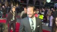 'Free Fire' premiere Red carpet arrivals Hammer speaking to press / Armie Hammer interview SOT / Hammer speaking to press