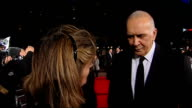 Frost/Nixon film premiere red carpet arrivals Frank Langella interview SOT saying film is relevent to all politicians everything politicians do is...