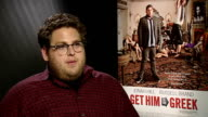 'Get Him to the Greek' interviews with Russell Brand and Jonah Hill Jonah Hill interview SOT On relationship with other comedians and actors Enjoy...