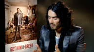 'Get Him to the Greek' interviews with Russell Brand and Jonah Hill ENGLAND London INT Russell Brand interview SOT On changing his ways since meeting...