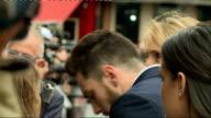 'Godzilla' Red carpet film premiere arrivals Aaron TaylorJohnson with wife Sam TaylorWood general views Aaron TaylorJohnson interview SOT Aaron...