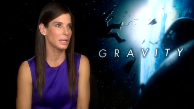 'Gravity' Sandra Bullock and Alfonso Cuaron interviews ENGLAND London INT Sandra Bullock interview SOT