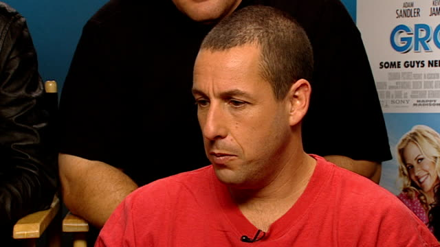 'Grown Ups' starring Adam Sandler ENGLAND London INT Adam Sandler interview SOT Wanted to make a movie about old friends we're all pretty tight in...
