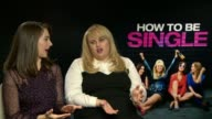 'How to Be Single' Junket interviews ENGLAND London INT Alison Brie and Rebel Wilson interview SOT