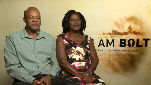 'I am Bolt' documentary film premiere General view reporter Jennifer Bolt interview SOT CUTAWAY reporter Leciester Square PHOTOGRAPHY*** General...