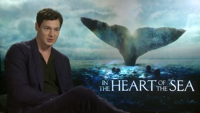 In The Heart of the Sea Interviews Ben Walker interview SOT on book Moby Dick / on KY jelly on set / on having to starve themselves / Ron Howard...