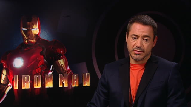 Film 'Iron Man' Gwyneth Paltrow and Robert Downey Jr interview Robert Downey Jr interview SOT Hasn't always dreamt of being a superhero / what...