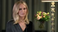 Jennifer Lawrence interview on release of new film 'Mother' ENGLAND London INT Jennifer Lawrence interview SOT