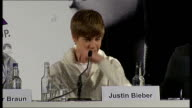 'Justin Bieber Never Say Never' premiere press conference Justin Bieber press conference SOT Last time I felt lonely / I guess I am fine being by...