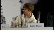 'Justin Bieber Never Say Never' premiere press conference Justin Bieber press conference SOT I just gave her a kiss / Music is my passion I will be...