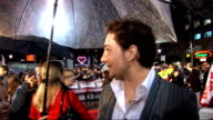 'Kick Ass' London premiere Red carpet interviews Aaron Johnson interview SOT On seeing fans dressed as his character On the action involved and how...