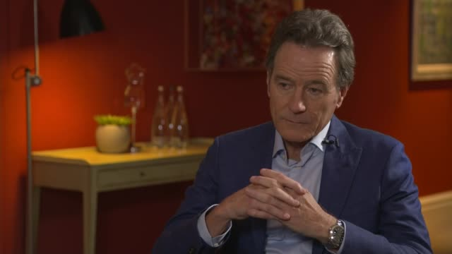 'Last Flag Flying' Bryan Cranston interview ENGLAND London INT Bryan Cranston interview SOT Includes comments on protests by NFL players / on US...