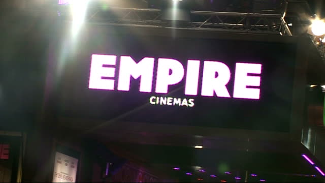 'Morning Glory' premiere celebrity arrivals **Music heard SOT** Illuminated 'Empire Cinemas' sign / 'Morning Glory' advert outside cinema PULL OUT...