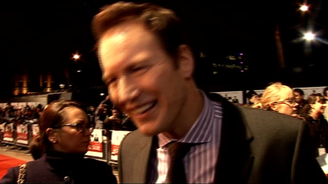 'Morning Glory' premiere celebrity arrivals Patrick Wilson interview SOT Describes the film plot / working with Harrison Ford and the rest of the...