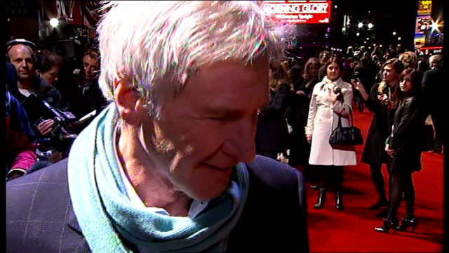 'Morning Glory' premiere Harrison Ford interview ENGLAND London Leicester Square Harrison Ford LIVE interview on red carpet SOT On his return to...
