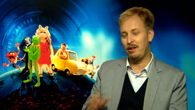 'Muppets Most Wanted' Burrell interview SOT James Bobin interview SOT on idea for film / on his upcoming project Alice through the Looking Glass