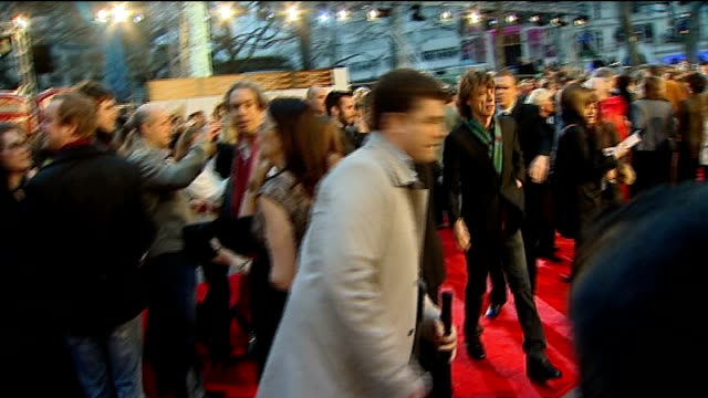 Rolling Stones at film premiere of 'Shine A Light' red carpet arrivals Jagger away on red carpet to sign autographs for fans / Various shots of Sir...