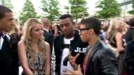 National Movie Awards 2011 red carpet arrivals JLS interview with reporter in shot SOT On their film JLS in 3D On shocking side on JLS story fly on...
