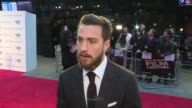 'Nocturnal Animals' red carpet interviews Aaron TaylorJohnson interview SOT Colin Firth along with Livia Firth / Ellie Bamber along