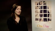 'One Day' interviews Anne Hathaway David Nicholls and Lone Scherfig ENGLAND London INT Anne Hathaway interview SOT On writing in real life Don't have...