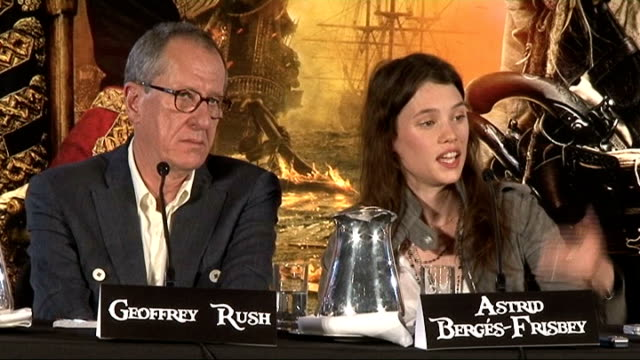 'Pirates of the Caribbean On Stranger Tides' press conference Jerry Bruckheimer press conference SOT On whether there will be a fifth movie in the...