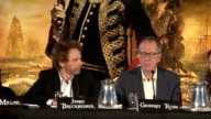 'Pirates of the Caribbean On Stranger Tides' press conference Jerry Bruckheimer press conference SOT On Rob Marshall Astrid BergesFrisbey press...