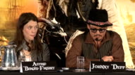'Pirates of the Caribbean On Stranger Tides' press conference Johnny Depp press conference SOT On the film being shown at the Cannes film festival /...