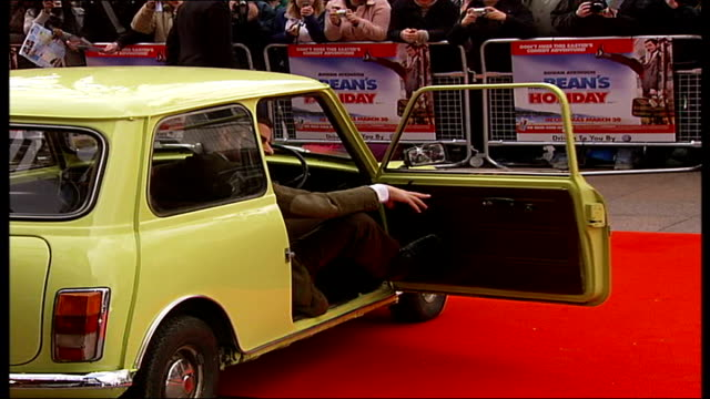 Premiere of 'Mr Bean's Holiday' Rowan Atkinson from car onto red carpet