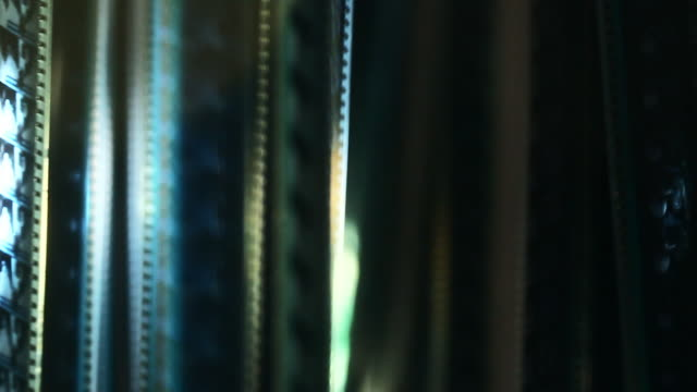 Film reel close up. Colorful abstract