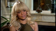 Rihanna interview on new film 'Battleship' ENGLAND London INT Rihanna interview SOT On the Battleship movie / whether it was a conscious decision to...