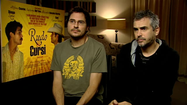 Film 'Rudo y Cursi' Gael Garcia Bernal and Diego Luna interview / Alfonso Cuaron and Carlos Cuaron interview Alfonso Cuaron and Carlos Cuaron...