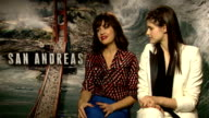 'San Andreas' junket interviews ENGLAND London INT Carla Gugino and Alexandra Daddario interview SOT