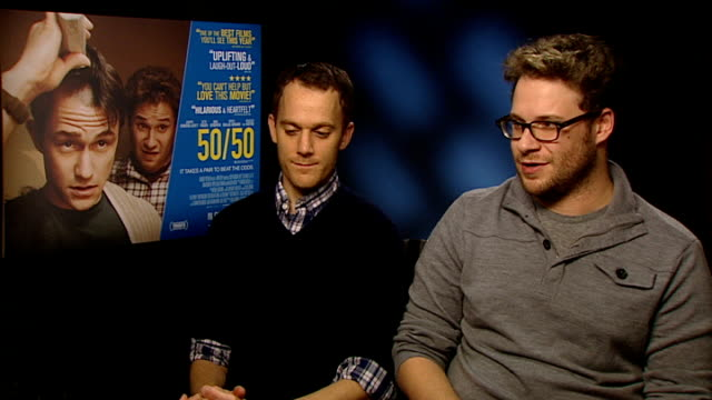 Seth Rogen and Will Reiser interview ENGLAND London INT Seth Rogen and Will Reiser interview SOT On people loving this film but not some others...