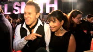 Film 'Seven Pounds' premiere Arrivals and interviews Roxanne Pallett and her skating partner Daniel Whiston interview SOT On Dancing on ice show...
