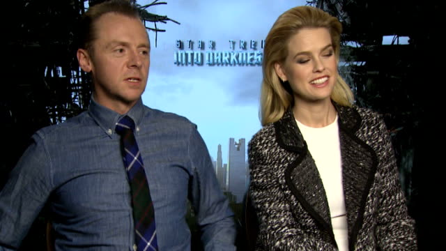 'Star Trek Into Darkness' London premiere Alice Eve and Simon Pegg interview SOT